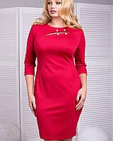 Трикотажное женское платье по фигуре для полных (Веста lzn )