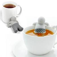 Силиконовый заварник для чая Mr. Tea, заварник-человечек Мистер Чай