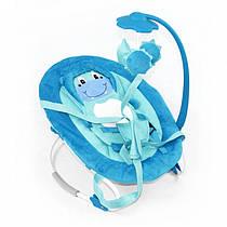 Детский шезлонг-качалка TILLY BT-BB-0002 BLUE. Гарантия качества. Быстрая доставка.
