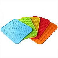 Силиконовый коврик для сушки посуды 21Х15 см, коврик-сушилка для кухни, фото 1