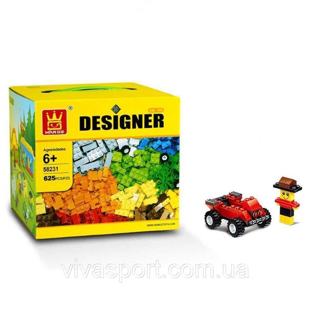 Увлекательный конструктор для детей на 625 предметов, развивающий детский конструктор
