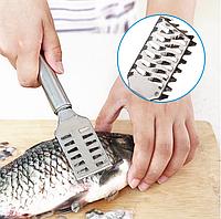 Скребок для чистки рыбы из нержавеющей стали, фото 1