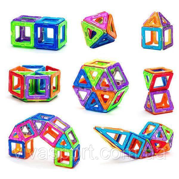 Развивающий магнитный конструктор из 20 предметов, детская игрушка MagKiss