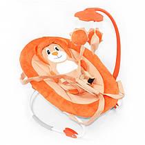 Детский шезлонг-качалка TILLY BT-BB-0002 ORANGE. Гарантия качества. Быстрая доставка.