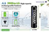 Аккумуляторные батарейки NI-MH 1.2В 1100 мАч AAА 4 шт. с кейсом, фото 3