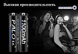 Аккумуляторные батарейки NI-MH 1.2В 1100 мАч AAА 4 шт. с кейсом, фото 4