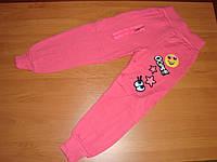 Спортивные штаны для девочки с начесом размер  5 лет