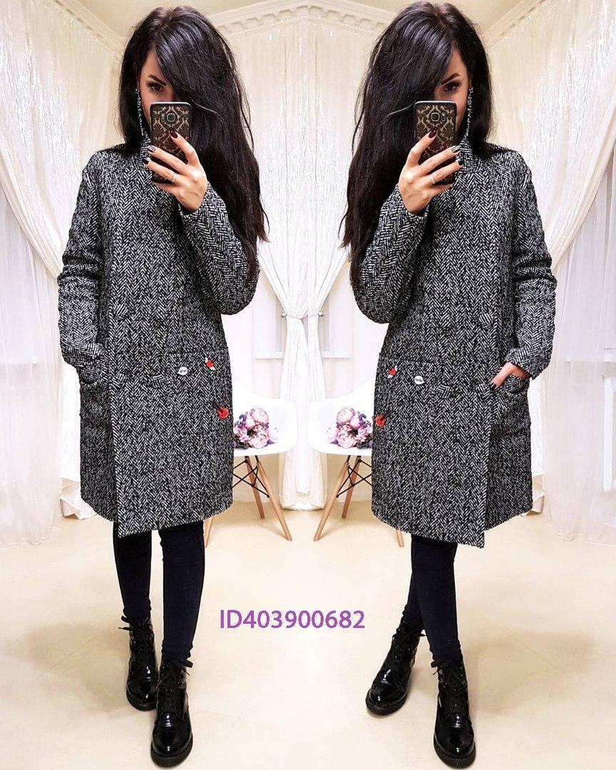 71e997cab3d Зимнее пальто из шерсти на утеплителе в расцветках 640247
