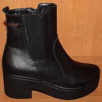 Зимние ботинки женские широкий каблук, женская обувь зима от производителя модель НБ5