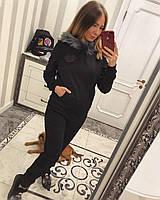 Теплый женский спортивный костюм из трикотажа на меху 3305151