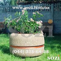 Большая красивая клумба бетонная - мраморная крошка 85х60см - КБ-35  - купить цена грн Сози Киев