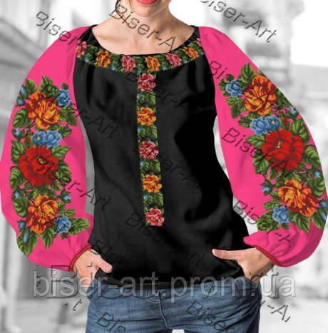 Заготовка для вишивки жіночої сорочки бохо В-77 на габардині -  Гуртово-роздрібний інтернет d0c3e42da1861