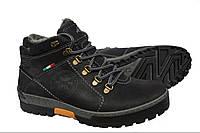 Зимние мужские  кожаные  ботинки Antec Shoes  Black