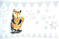 Брошь керамическая авторский дизайн ручная роспись лиса