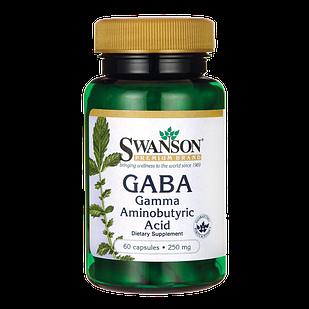 GABA Гамма-аминомасляная к-та  250 mg 60 капс США