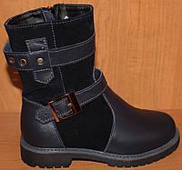 Детские сапоги высокие замшевые зимние, замшевая детская обувь зимняя от производителя модель ДЖ3907