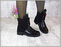 Ботиночки  черные зима Hermes  теплые зима  cупер цена с 36 по 41 размер