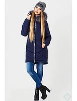 Зимняя куртка на молнии с карманами в рельефных швах
