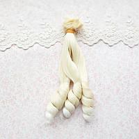 Волосы для кукол кудри на концах в трессах, омбре блонд - 15 см
