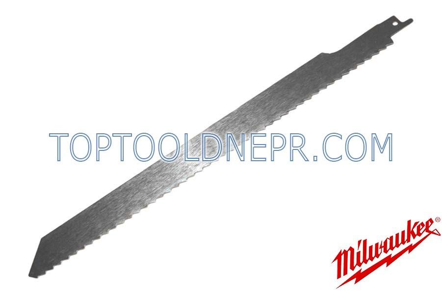 Пильное полотно Milwaukee 300х6,4мм для робот по замороженным материалам, сталь, 1шт