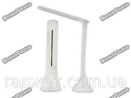 Сенсорная настольная складная аккумуляторная лампа из светодиодов Led Touch Lamp белого цвета, фото 2