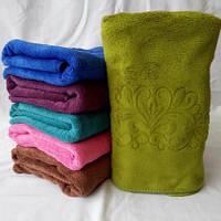Яркое качественное  полотенце с микрофибры для лица . Размер 100*50.