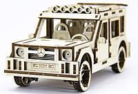 """Деревянный конструктор """"Mercedes-Benz G-Class"""", уникальная развивающая игрушка"""