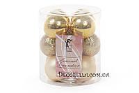 Набор елочных шаров (12шт) 4см, яркое золото