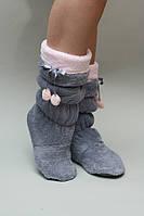 Сапожки для дома Nicoletta - Серые с нежно розовым