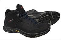 Зимние мужские кожаные ботинки Ecco Natur Motion Blue, фото 1