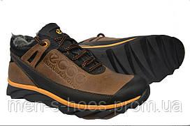 Зимние мужские кожаные  кроссовки Ессо Motion реплика