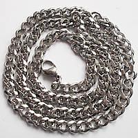 Мужская цепочка, классическое плетение. Длина 55 см, ширина 5 мм. Сталь.
