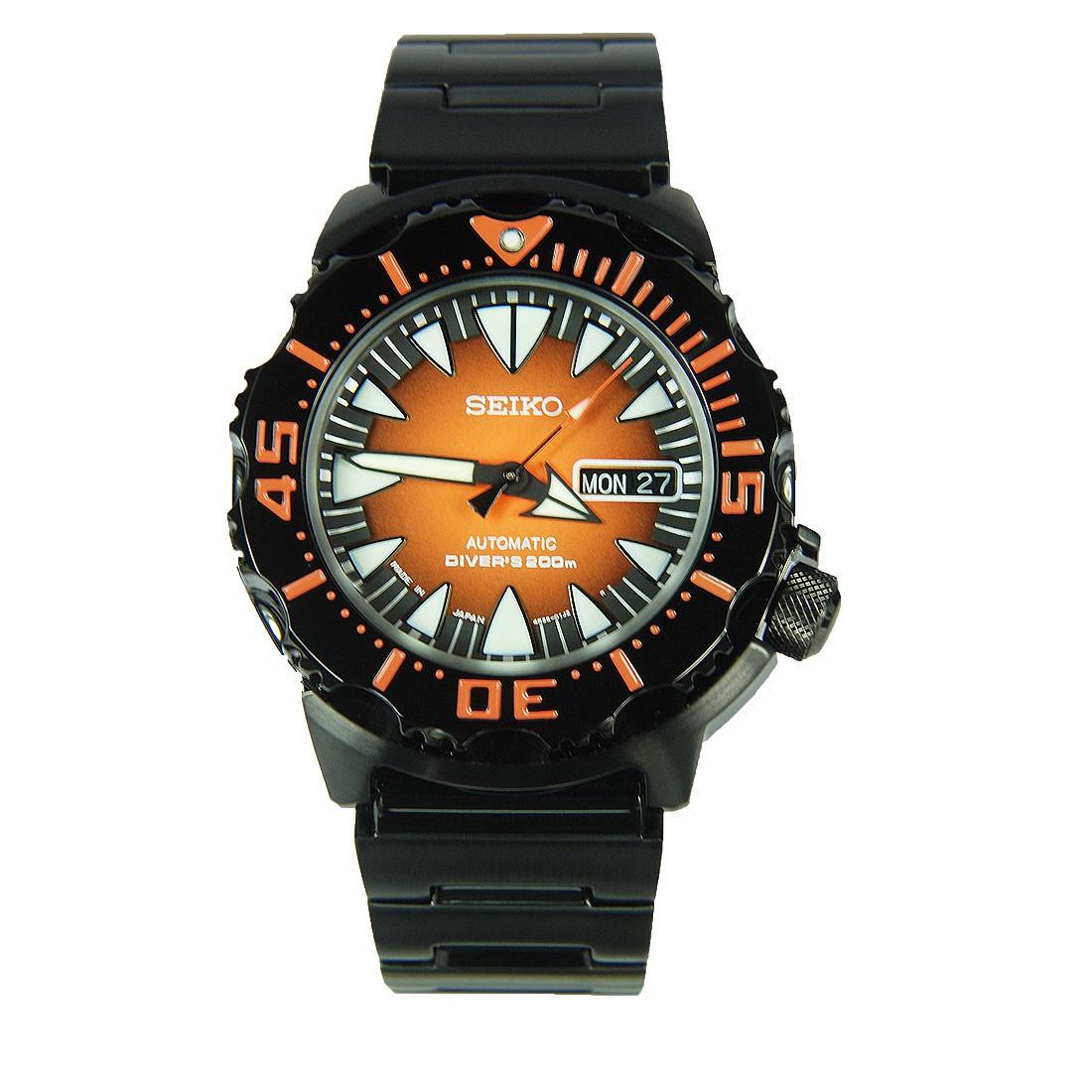 Часы Seiko Black / Orange Monster SRP311J1 Automatic Diver's 4R36 В.