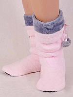 Сапожки для дома Nicoletta - Светло-розовый с серым