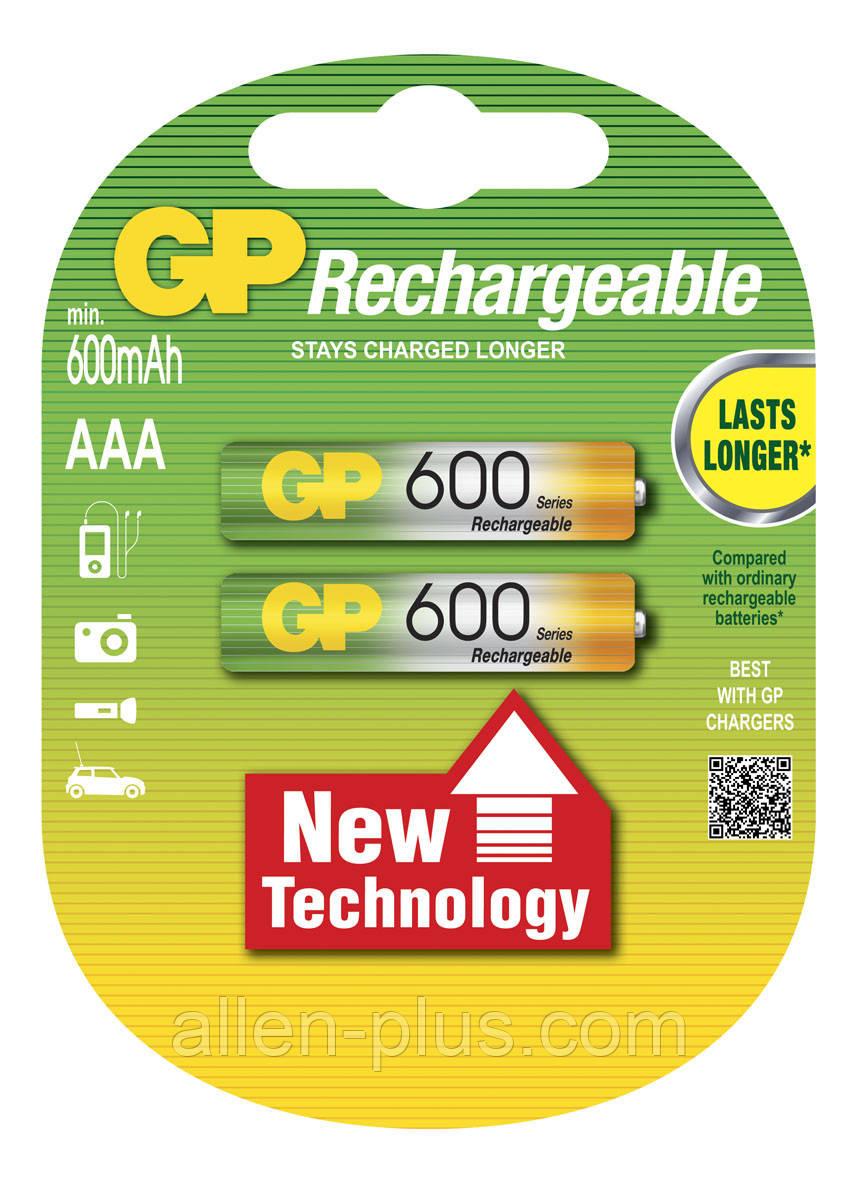 Аккумулятор GP АAА 1.2V 600mAh Ni-MH