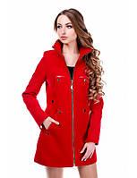 Женское кашемировое пальто с воротником-стойка