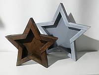"""Декор """"Звезда"""" коричневая большая"""