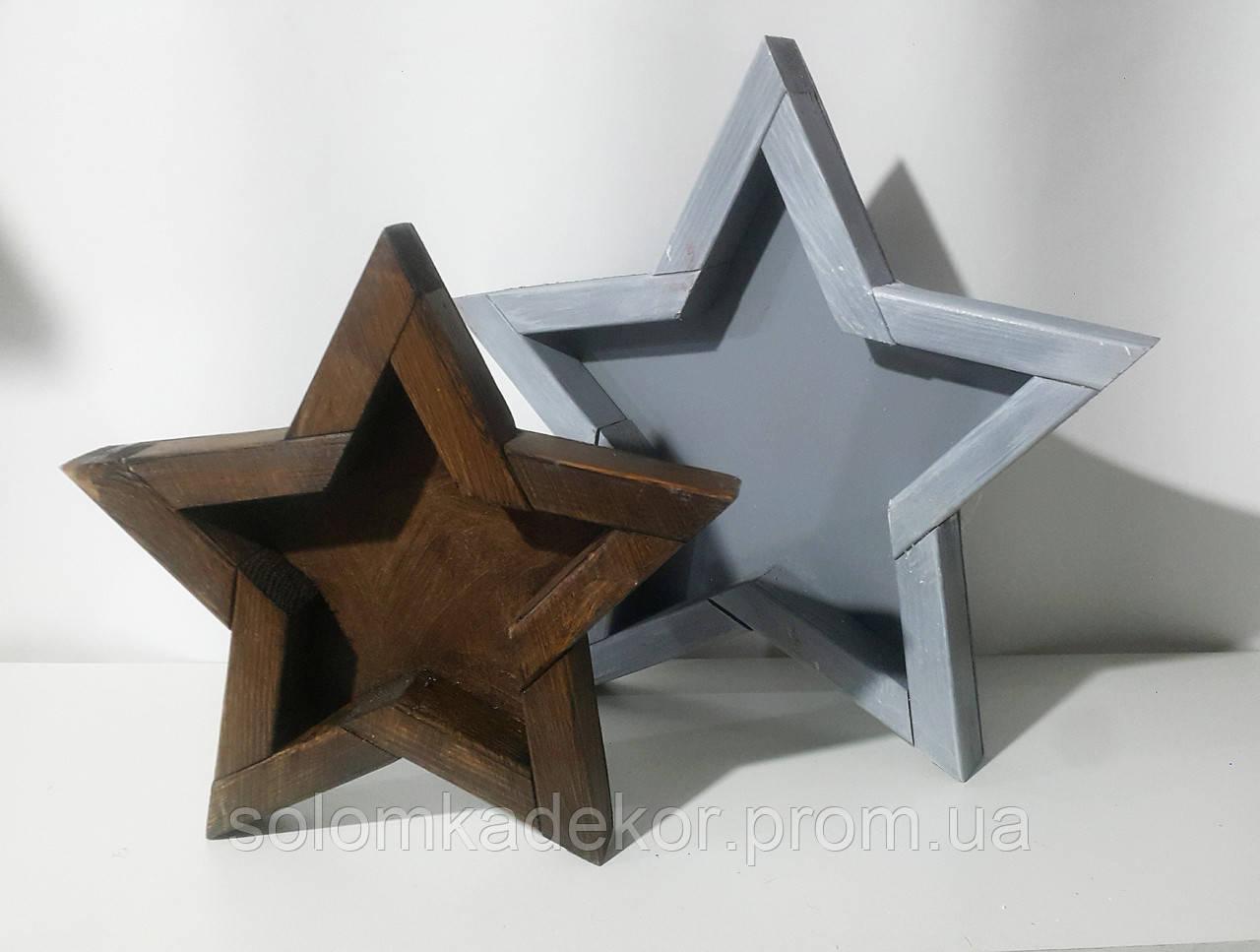 """Декор """"Звезда"""" коричневая большая - """"Соломка"""" в Одессе"""