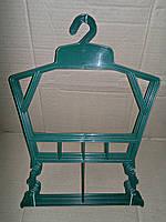 Плечики вешалка рамка детская зелёная