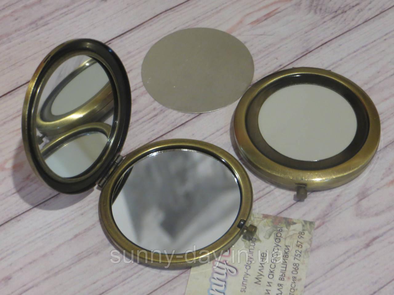"""Заготівля для оформлення вишивки """"Дзеркало"""", колір - бронза/матове"""