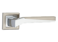 """Дверная ручка на розетке MVM """"NEO"""" Z-1319 SN/CP (матовый никель/полированный хром)"""