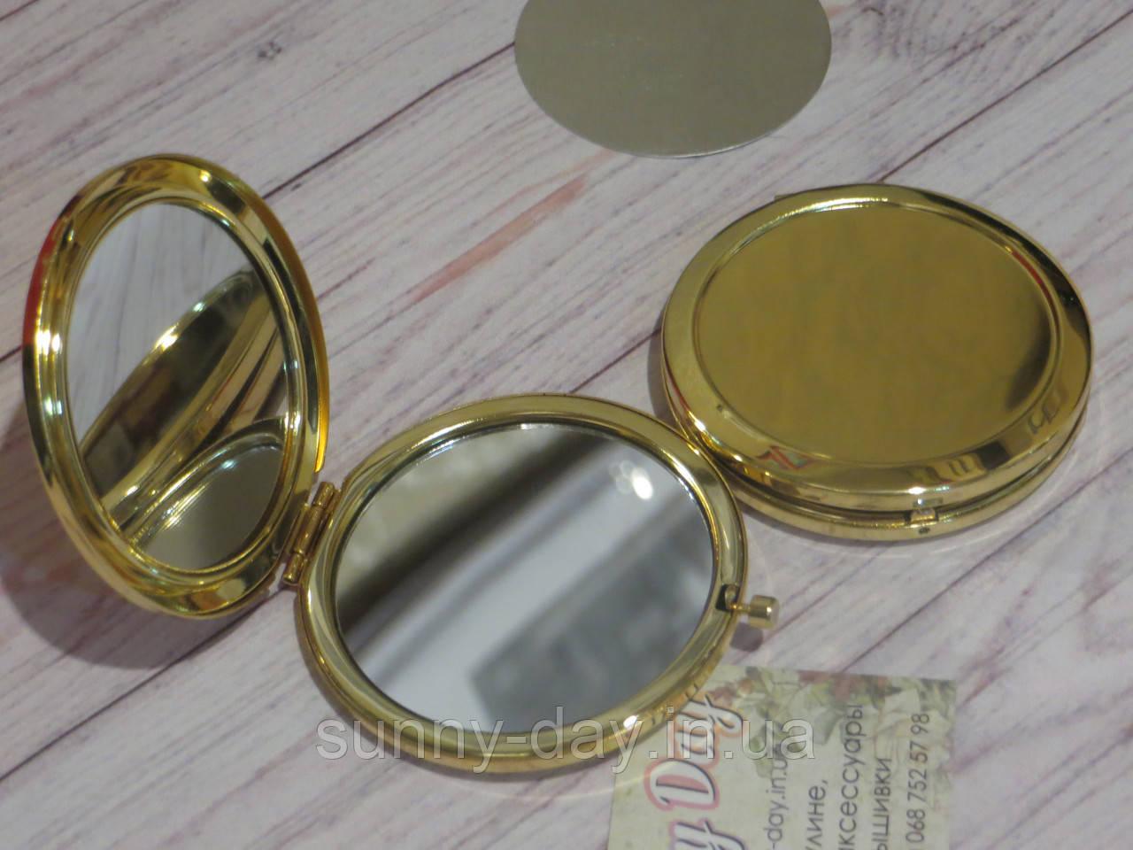 """Заготовка для оформления вышивки """"Зеркало"""", цвет - золото/глянец"""