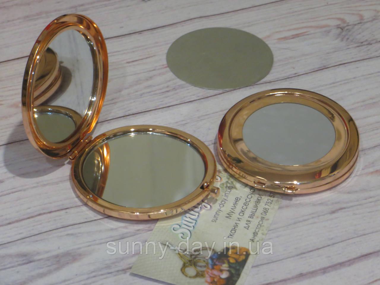 """Заготовка для оформления вышивки """"Зеркало"""", цвет - розовый/глянец"""