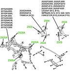 25-05A Сайлентблок заднего подрамника Subaru Legaci, Tribeca, Impreza, Forester, Exiga; 20152SC000, фото 2