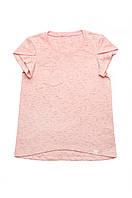 Детская футболка для девочки базовая (розовая)