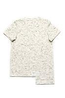 Детская футболка для мальчика базовая (белый меланж)