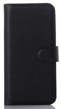 Кожаный чехол-книжка для Asus Zenfone 2 ZE500CL черный