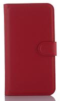 Кожаный чехол-книжка для Asus ZenFone 2 Laser ZE550KL ZE551KL красный