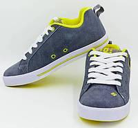 Кроссовки спортивные для скейтбординга DG(кожа)D008-818GR серый-желтый
