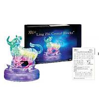 Пазлы 3D- кристалл Зодиак телец 9044A  светящ., 45 дет., в кор. 18*13*7см